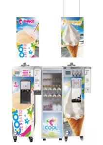 Luna softijs- en milkshakemachines van Dupon.