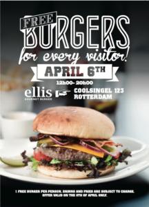 Tweede vestiging van Ellis Gourmet Burger voor Rotterdam